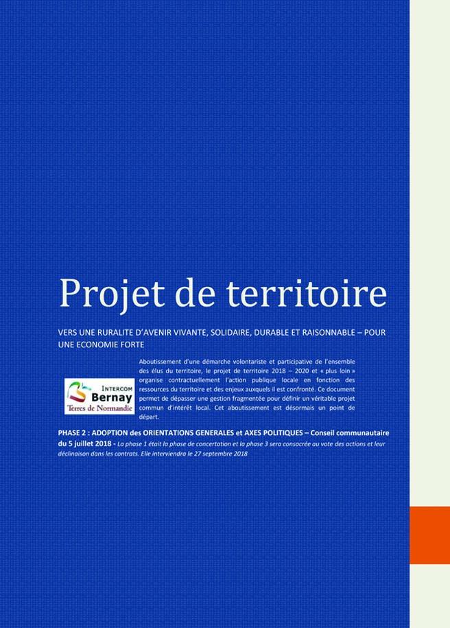 Visuel du projet de territoire