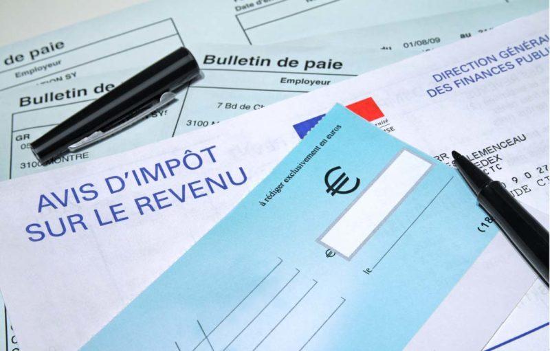 Photo d'illustration d'une déclaration d'impôts