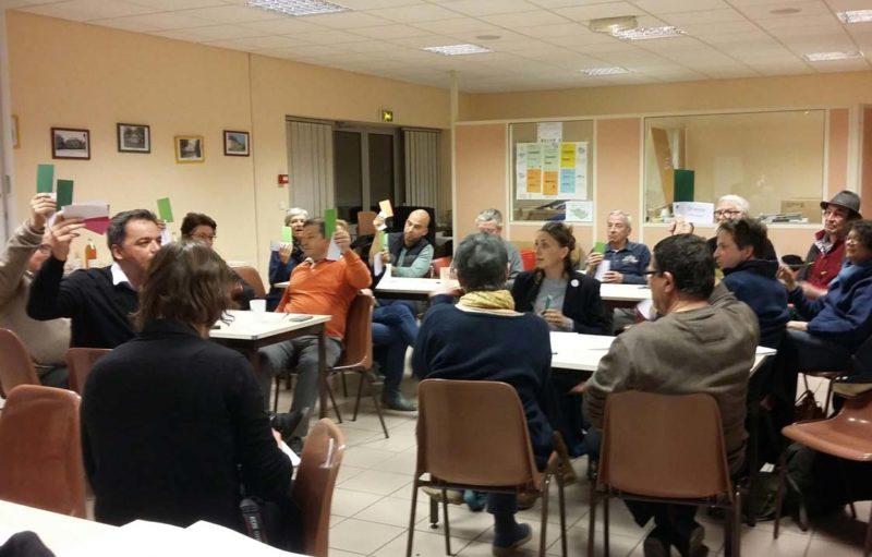Photo d'une réunion thématique autour de la culture