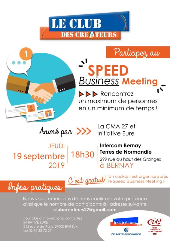 Affiche du speed business meeting